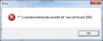 Error - txt was not found.
