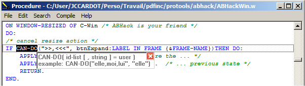 Syntax tooltips